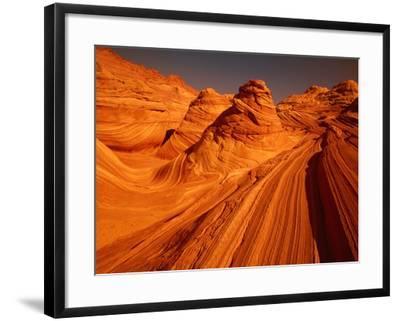 Vermillion Cliffs, The Wave, Grand Staircase Escalante Nationalpark, Arizona, USA-Frank Krahmer-Framed Photographic Print