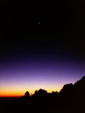 Mountaintops at Dusk-Frank Krahmer-Framed Photographic Print