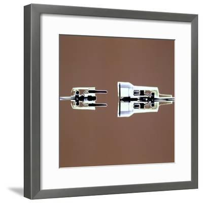 Cross-section of Electrical Plug--Framed Photographic Print
