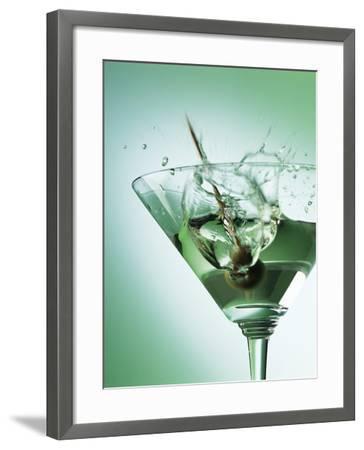 Martini with Olive Splash-Steve Lupton-Framed Photographic Print