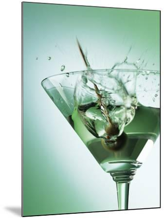 Martini with Olive Splash-Steve Lupton-Mounted Photographic Print