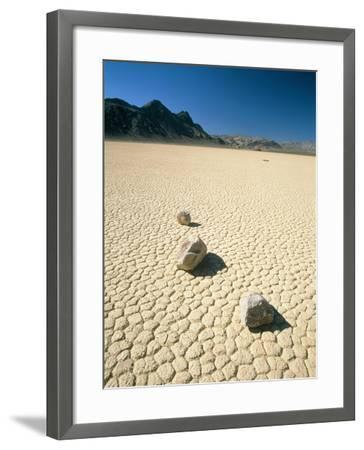 Dried clay, Death Valley, Nevada, USA-Frank Lukasseck-Framed Photographic Print