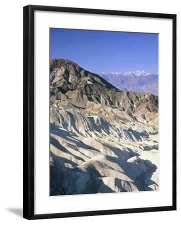 Badlands, Zabriskie Point, Death Valley, USA-Frank Lukasseck-Framed Photographic Print