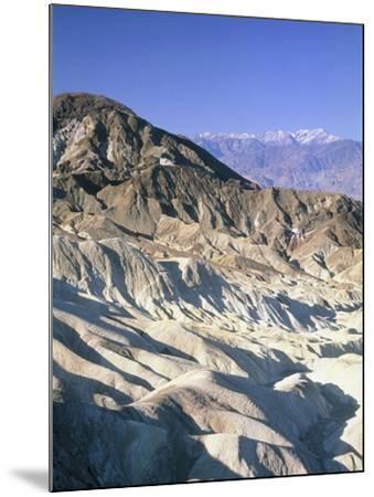 Badlands, Zabriskie Point, Death Valley, USA-Frank Lukasseck-Mounted Photographic Print