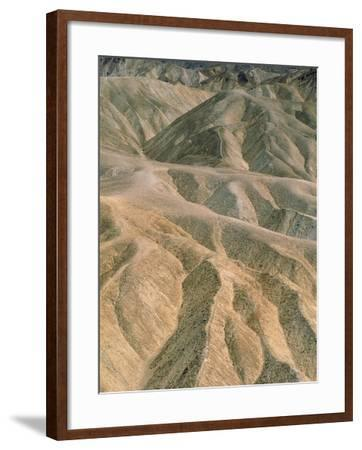 Zabriskie Point in the Death Valley National Park, California (USA)-Theo Allofs-Framed Photographic Print