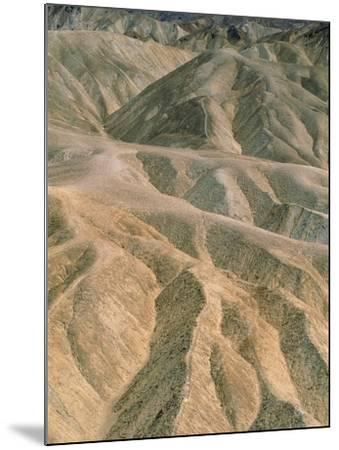 Zabriskie Point in the Death Valley National Park, California (USA)-Theo Allofs-Mounted Photographic Print