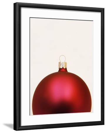 Red Christmas tree decorations--Framed Photographic Print
