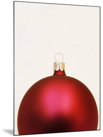 Red Christmas tree decorations--Mounted Photographic Print