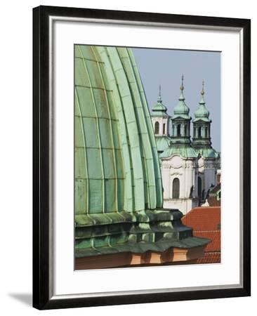 Church Dome and Bell Towers in Prague-William Manning-Framed Photographic Print