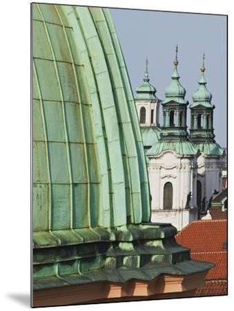 Church Dome and Bell Towers in Prague-William Manning-Mounted Photographic Print