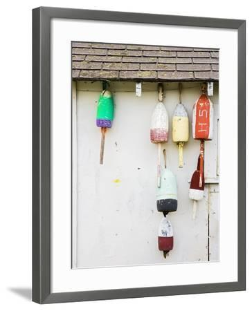 Lobster Buoys on Hut-Tom Grill-Framed Photographic Print