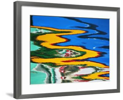 Colors Reflected in Ripples in Canal-William Manning-Framed Photographic Print