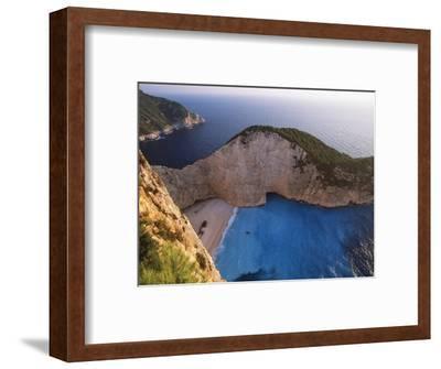 Shipwreck Bay on Zakynthos-Jeremy Horner-Framed Photographic Print