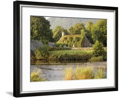 Vine-Covered Stone Cottage Near River Conwy-Richard Klune-Framed Photographic Print
