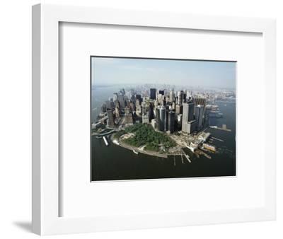 Manhattan's Financial District-David Jay Zimmerman-Framed Photographic Print