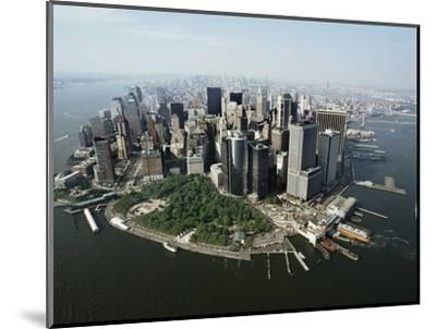 Manhattan's Financial District-David Jay Zimmerman-Mounted Photographic Print
