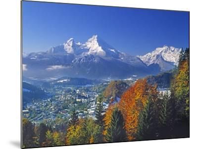Berchtesgaden and Mount Watzmann-Walter Geiersperger-Mounted Photographic Print