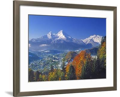 Berchtesgaden and Mount Watzmann-Walter Geiersperger-Framed Photographic Print