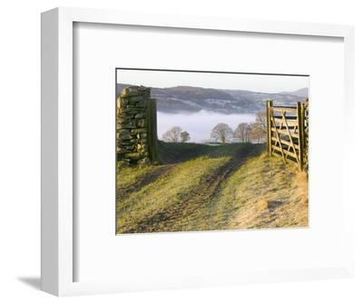 Frosty Early Morning Landscape Over Lake Windermere-Ashley Cooper-Framed Photographic Print