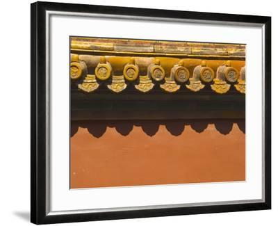 Tiles on Roof of Forbidden City-Xiaoyang Liu-Framed Photographic Print