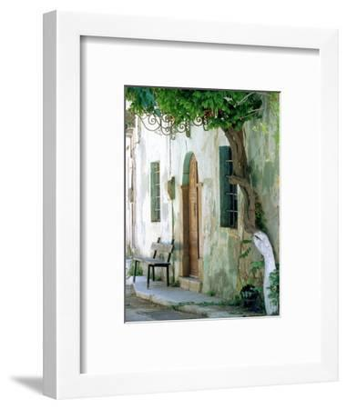 House in the village Vessa on Chios, Greece-Rainer Hackenberg-Framed Photographic Print