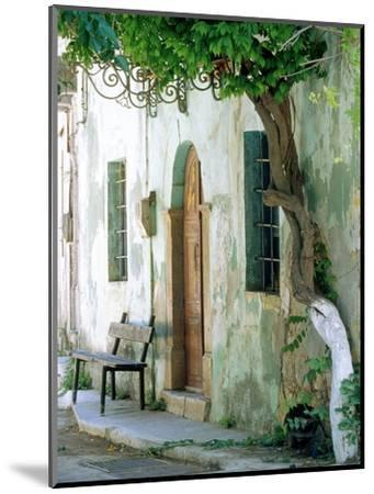 House in the village Vessa on Chios, Greece-Rainer Hackenberg-Mounted Photographic Print