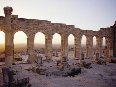 Roman Ruins in Volubilis-Floris Leeuwenberg-Framed Photographic Print
