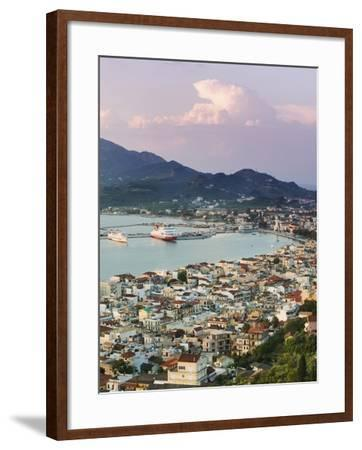 View over Port from the Venetian Kastro-Walter Bibikow-Framed Photographic Print
