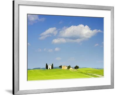 Chapel and Farmhouse on Hill-Frank Lukasseck-Framed Photographic Print