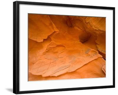 Eroded Sandstone Cliff-John Eastcott & Yva Momatiuk-Framed Photographic Print
