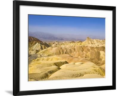 Manly Beacon Peak and Badlands-John Eastcott & Yva Momatiuk-Framed Photographic Print