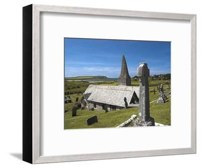 St. Enodoc Church and Cemetery-Nick Lewis-Framed Photographic Print