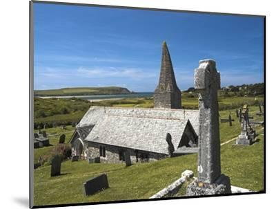 St. Enodoc Church and Cemetery-Nick Lewis-Mounted Photographic Print