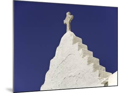 Cross on Top of Gable-Danny Lehman-Mounted Photographic Print