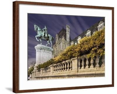 Equestrian Statue Outside Hotel de Ville-Peet Simard-Framed Photographic Print
