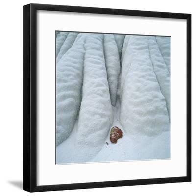 Snowy Cliff-Micha Pawlitzki-Framed Photographic Print