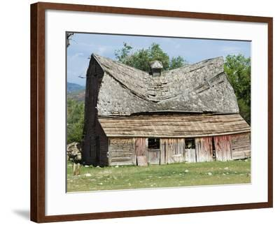 Collapsing Barn-Larry Lee-Framed Photographic Print