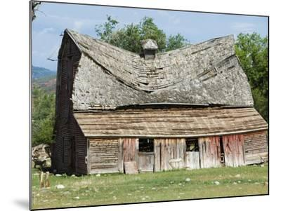 Collapsing Barn-Larry Lee-Mounted Photographic Print
