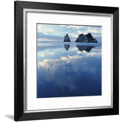 Sea Stacks in Ocean-Micha Pawlitzki-Framed Photographic Print