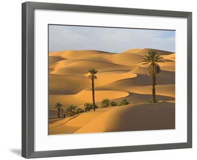 Palm Trees in Desert-Frank Lukasseck-Framed Photographic Print