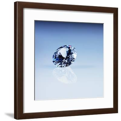 Round Cut Diamond--Framed Photographic Print
