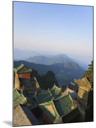 Taoist Temple in Mountain Landscape-Keren Su-Mounted Photographic Print