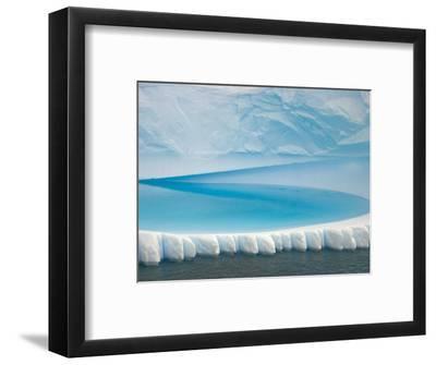 Stranded Iceberg in Shallow Bay Near Boothe Island-John Eastcott & Yva Momatiuk-Framed Photographic Print