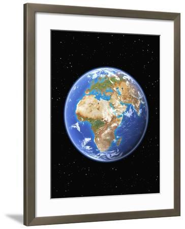 Eastern Hemisphere of Earth-Kulka-Framed Photographic Print