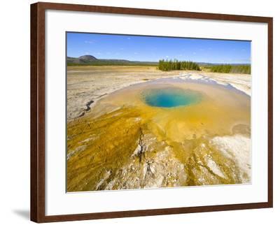 Opal Pool at Yellowstone National Park-John Eastcott & Yva Momatiuk-Framed Photographic Print