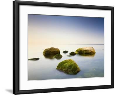 Rocks in Shallow Water of Baltic Sea-Frank Lukasseck-Framed Photographic Print