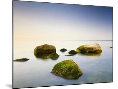 Rocks in Shallow Water of Baltic Sea-Frank Lukasseck-Mounted Photographic Print
