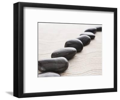 Rocks on sand-John Smith-Framed Photographic Print
