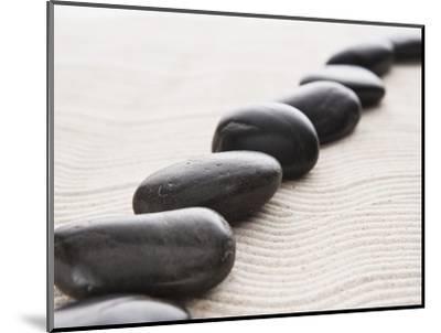 Rocks on sand-John Smith-Mounted Photographic Print