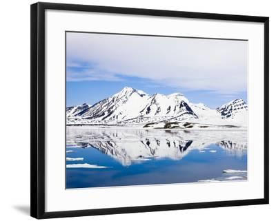 Snow-Covered Mountains at Hornsund-Frank Lukasseck-Framed Photographic Print